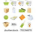 shopping and retail icons | Shutterstock .eps vector #70156870