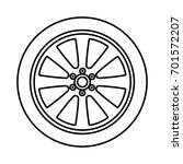 car wheel icon . | Shutterstock .eps vector #701572207