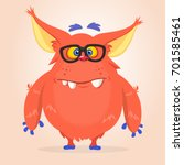 vector cartoon of a red fat and ... | Shutterstock .eps vector #701585461