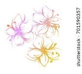 flowers isolated on white... | Shutterstock .eps vector #701590357