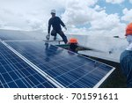 engineer working on checking... | Shutterstock . vector #701591611