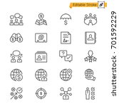 business thin icons. editable... | Shutterstock .eps vector #701592229