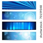 set of abstract banners. blue...   Shutterstock . vector #70159348