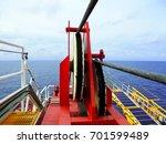 crane  pedestal crane winch ...   Shutterstock . vector #701599489
