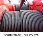 crane  pedestal crane winch ...   Shutterstock . vector #701599495