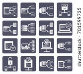 database server icon set vector | Shutterstock .eps vector #701599735