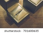 two engagement ring in box on... | Shutterstock . vector #701600635