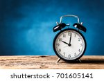black retro alaemclock on old... | Shutterstock . vector #701605141
