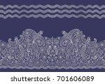 vector seamless border in... | Shutterstock .eps vector #701606089