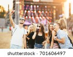 friends drinking beer and... | Shutterstock . vector #701606497