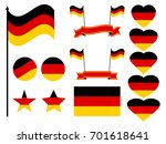 germany flag set. collection of ... | Shutterstock .eps vector #701618641