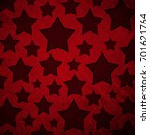 stars pattern in retro red... | Shutterstock . vector #701621764