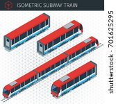 isometric subway train. 3d... | Shutterstock .eps vector #701625295