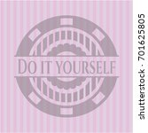 do it yourself realistic pink... | Shutterstock .eps vector #701625805