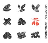 spices glyph icons set.... | Shutterstock .eps vector #701629204