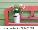 beautiful bouquet of field... | Shutterstock . vector #701631031