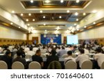blurred conference with... | Shutterstock . vector #701640601