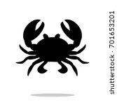 Crab Black Silhouette Aquatic...