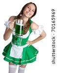 St patricks day beer girl