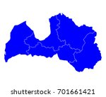 map of latvia   Shutterstock .eps vector #701661421