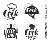 cook  chef logo or label.... | Shutterstock .eps vector #701662114