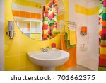 modern and colorful bathroom.... | Shutterstock . vector #701662375