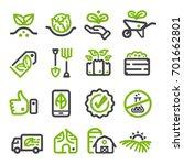organic farm organic vegetable... | Shutterstock .eps vector #701662801
