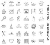 cocktail icons set. outline... | Shutterstock .eps vector #701664811