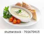 eggplant dip with bread cherry... | Shutterstock . vector #701670415