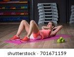 a graceful woman practicing...   Shutterstock . vector #701671159