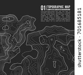 topographic map background with ... | Shutterstock .eps vector #701685181