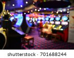 blurred image of slots machines ... | Shutterstock . vector #701688244