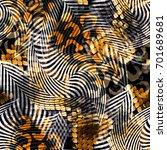 seamless pattern wild design.... | Shutterstock . vector #701689681