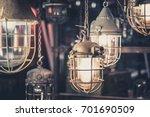industrial lamps  hanging... | Shutterstock . vector #701690509