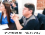blurred people in the banquet... | Shutterstock . vector #701691469