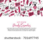 sketch makeup site header... | Shutterstock .eps vector #701697745