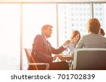 businessman discussing with... | Shutterstock . vector #701702839