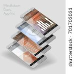 flat design responsive ui... | Shutterstock .eps vector #701703031