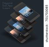 basic app mobile ui smartphone... | Shutterstock .eps vector #701703085