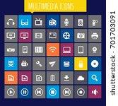 big multimedia icon set | Shutterstock .eps vector #701703091