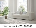 idea of white room with sofa... | Shutterstock . vector #701703349