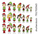 vector collection of christmas... | Shutterstock .eps vector #701703565