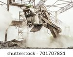 large bucket powerful excavator ... | Shutterstock . vector #701707831