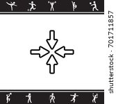 web line icon. four arrows   Shutterstock .eps vector #701711857
