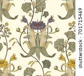 floral vintage seamless pattern.... | Shutterstock .eps vector #701715469
