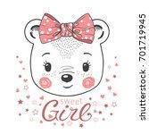 Cute Little Bear Girl. For...