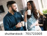 picture of young designers... | Shutterstock . vector #701723305