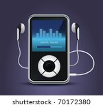 stylish modern mp3 player with... | Shutterstock .eps vector #70172380
