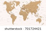 world map vintage vector.... | Shutterstock .eps vector #701724421