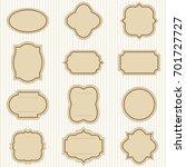 set of decorative vintage...   Shutterstock .eps vector #701727727